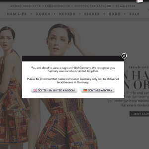 H M verwirrt den Online-Shopper beim Sprachwechsel
