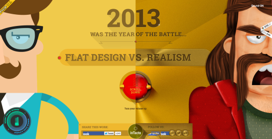 interface design berlin flat vs realism scrol story